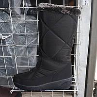 Жіночі зимові чоботи-дутіки з хутром