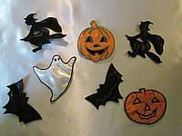 Ведьма, тыква, летучая мышь Хэллоуин. Украшения в стиле Halloween,