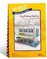 3D пазл CubicFun Тайвань. Рыбный рынок 42 элемента (W3162h)