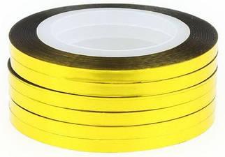Стрічка золота, клейка для дизайну 2 мм.