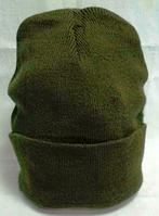 Шапка вязанная оливковая