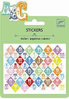 Набор наклеек Djeco Буквы с металлическим цветом (DJ09768)