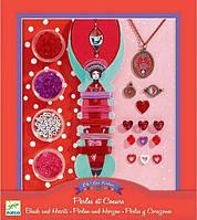 Ювелирный набор для творчества Djeco Сердце и жемчуг (DJ09803)