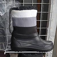 Жіночі зимові чоботи-дутіки на овчині