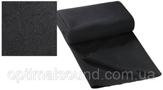 Акустическая ткань черного цвета 140х75см