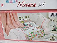 Комплект детского постельного белья First Choice с вязаным пледом BABY MAV-NIRVANA