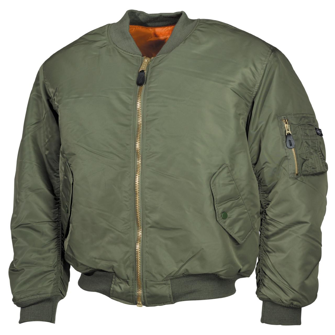 Куртка лётная MA1 MFH тёмно-зелёный 03552B