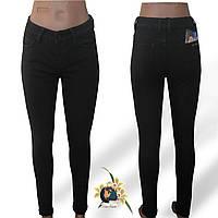 Джинсы женские утеплённые на флисе зауженные  New Jeans чёрного цвета 26, 27 размеры.