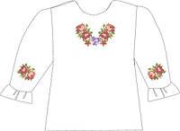 СВДП-7. Заготовка для вишивки бісером Дитяча блузочка домоткана