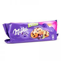 Печенье Milka Pieguski Choco Cookies Raisins (c кусочками шоколада и изюмом), 135 гр