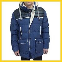Зимняя мужская куртка джинсового цвета 48-56.
