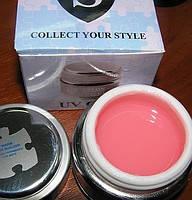 Salon Professional Builder Gel warm pink, Моделюючий гель,з теплим рожевим відтінком, 15 мл