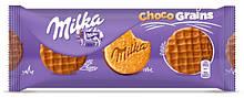 Печенье Milka Choco Grains (с шоколадом и злаками), 120 гр