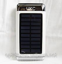 Мобильный power bank UKC 15000mAh, c зарядкой от солнечной батареи