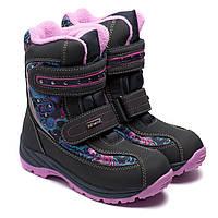 Зимние термо сапоги B&G, для девочки, размер 31-36