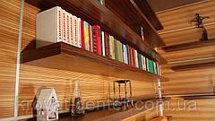 Настенная книжная полка со скрытым креплением из натурального дерева от производителя, фото 3
