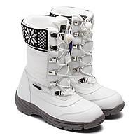 Зимние сапоги B&G термо, для девочки, белые, размер 31-36