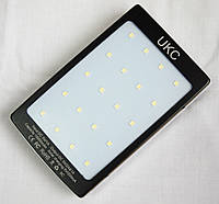 Мобильный power bank UKC 15000mAh, c зарядкой от солнечной батареи + светильник