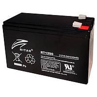 Аккумуляторная батарея AGM Ritar RT1290 Black Case, 12V 9.0Ah Q10