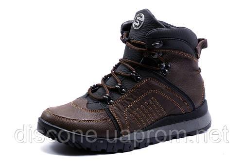 Ботинки на меху Samas, зимние, мужские, натуральная кожа, коричневые