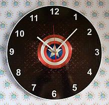Настенные часы Капитан Америка. Лого