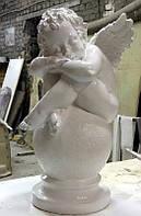 Скульптура Ангел на шаре из полимера 63 см , фото 1