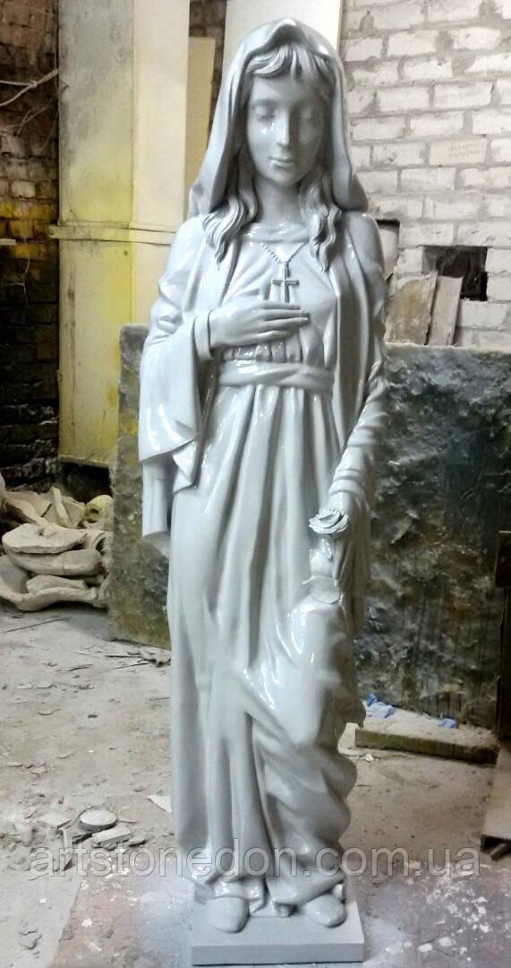 Ритуальная скульптура в Украине.Скульптура из полимера Скорбящая  с розой 157 см