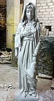 Ритуальная скульптура в Украине.Скульптура из полимера Скорбящая  с розой 157 см, фото 1