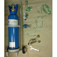 Ингалятор кислородный / баллон 10 л с маской носовыми канюлями с тележкой транспортировочной