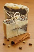 """Натуральное мыло - скраб """"Кофе с корицей"""" 100 г."""