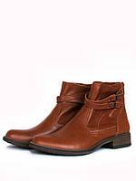 Кожаные рыжие ботинки