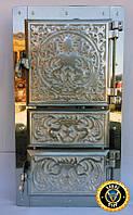 Печная дверца Дюраль Спарка, чугунные дверки для печи и барбекю