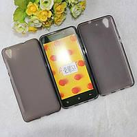 Чехол Huawei Y6 2 / Y6 II / Honor 5A TPU силикон серый