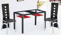 Стеклянный обеденный стол на заказ арт.03