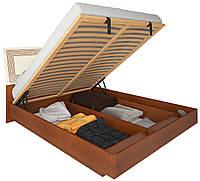 Кровать с подъемным механизмом Виола / Viola MiroMark 160х200 вишня бюзум / ваниль глянец