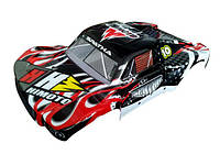 1:10 Short Course Body Red Green Himoto кузов Spatha