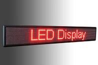 """Вывеска,табло LED """"бегущая строка"""" BX-5U красный цвет, длина 1,67 м."""