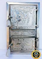 Печная дверца Виноград, чугунные дверки для печи и барбекю