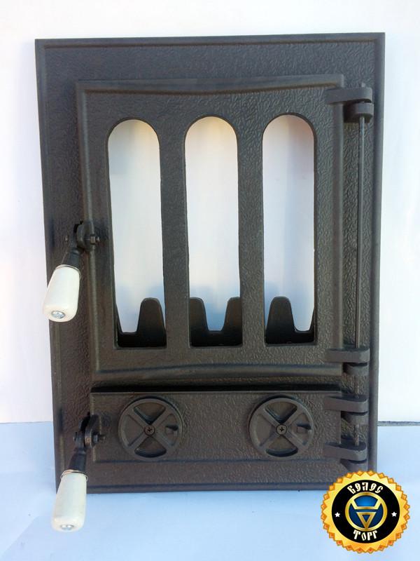 Печная дверца Классическая, чугунные дверки для печи и барбекю