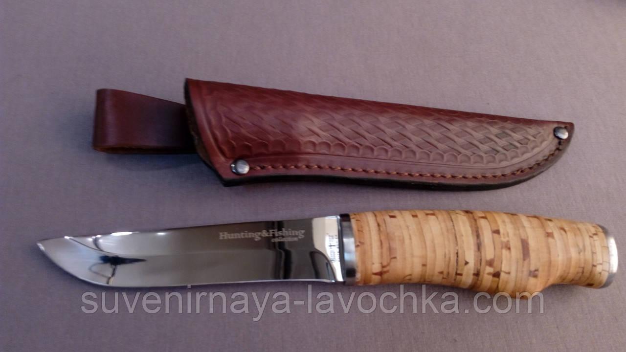 Нож охотничий Качественная береста из чехлом
