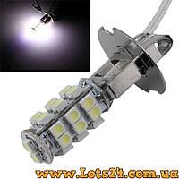 Авто-лампы H3 28 LED 6000K (светодиодные лампочки для авто, лучше за галогеновые и ксеноновые)