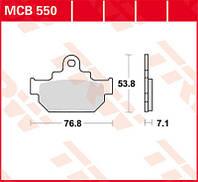 Тормозные колодки TRW / Lucas MCB550