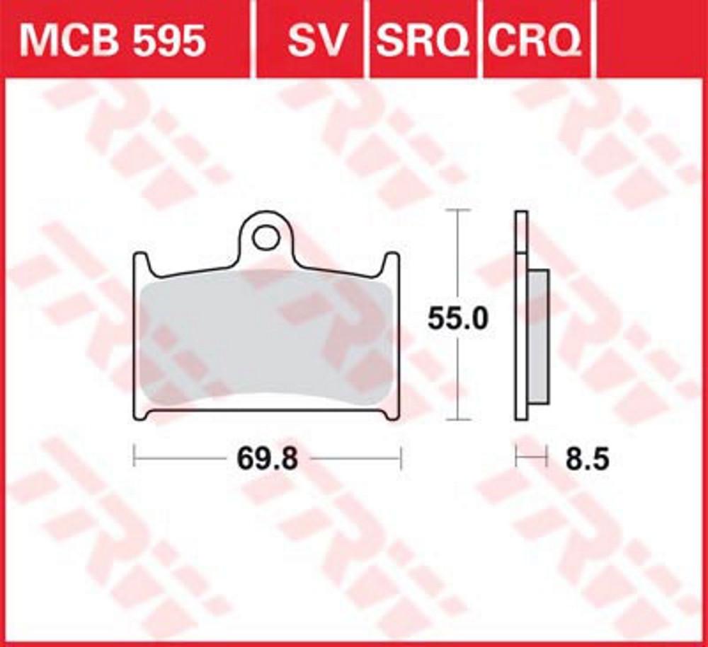 Тормозные колодки LUCAS MCB595