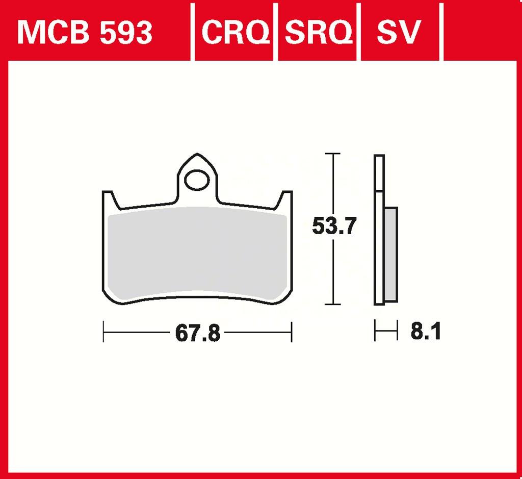 Тормозные колодки TRW / Lucas MCB593