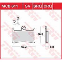 Тормозные колодки TRW / Lucas MCB611SV