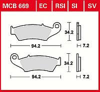 Тормозные колодки TRW / Lucas MCB669
