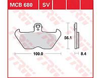 Тормозные колодки TRW / Lucas MCB680
