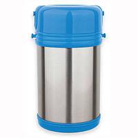 Термос  пищевой 2000 мл из нержавеющей стали с пластиковыми контейнерами