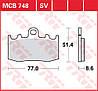 Тормозные колодки TRW / Lucas MCB748