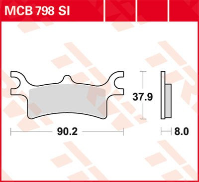 Тормозные колодки TRW / Lucas MCB798SI для квадроцикла